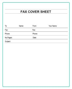 Free Printable Basic Fax Cover Sheet