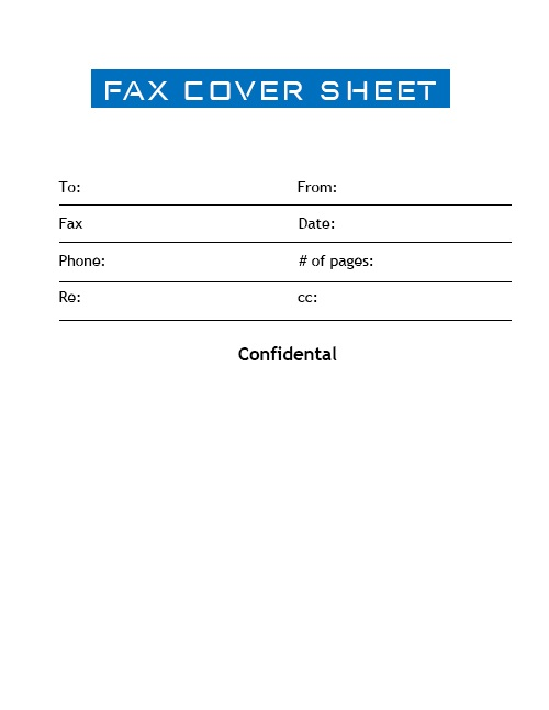 Printable Fax Cover Sheet Basic