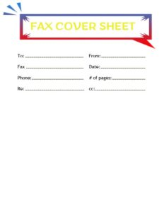 Printable Free Basic Fax Cover Sheet