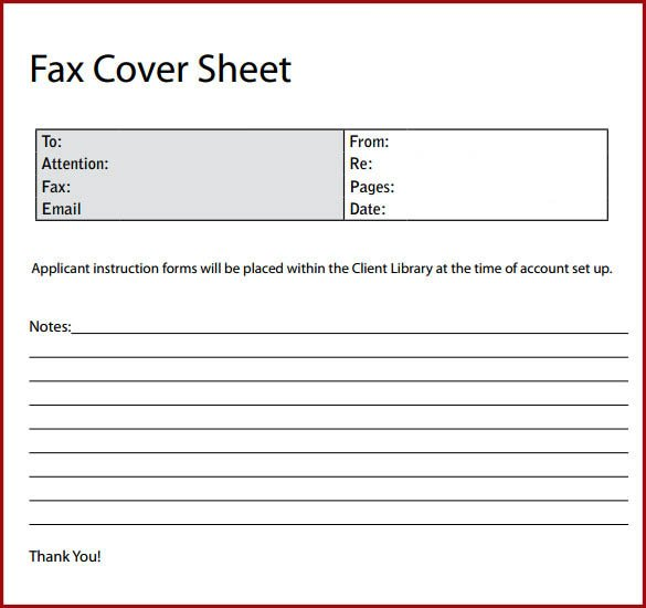 Professional fax cover sheet Free