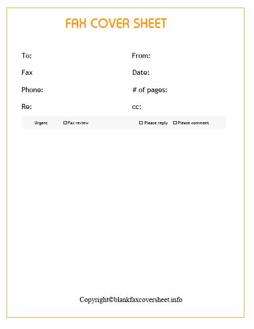 free blank fax cover sheet pdf