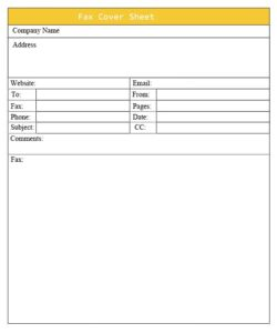 professional cover sheet free