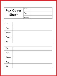 Confidential Fax Cover letter