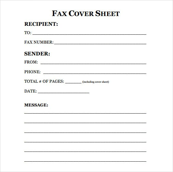 Personal Fax Cover Sheet Template PDF