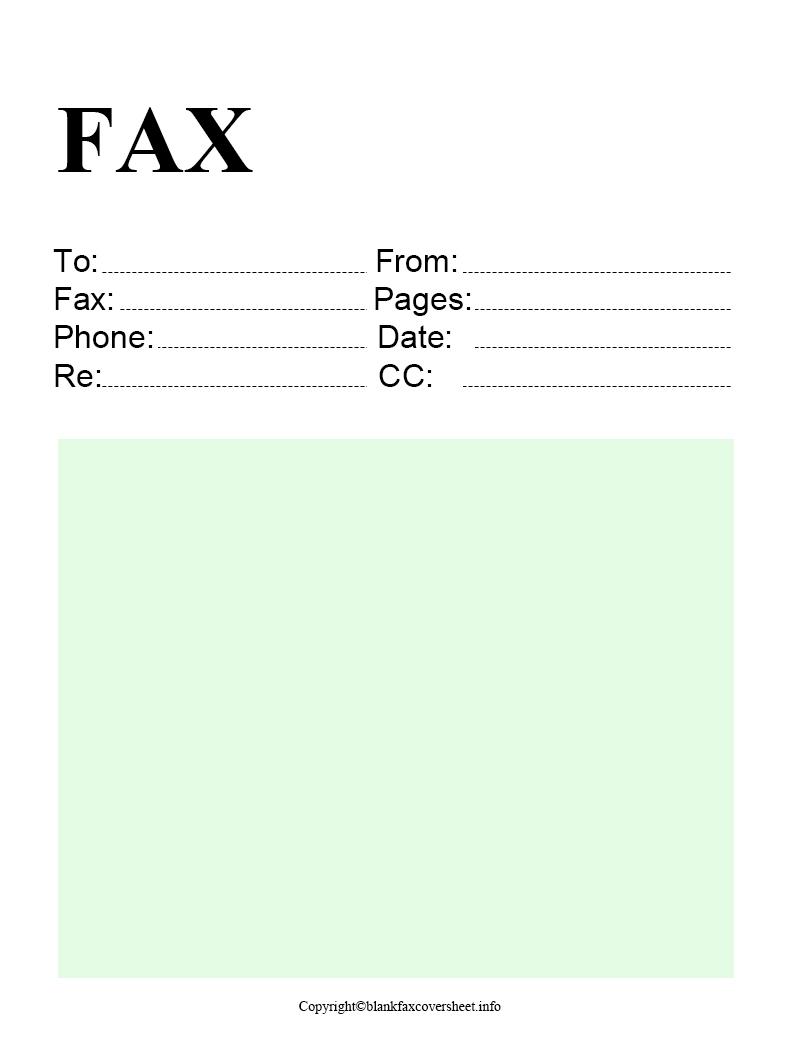 Free Printable Standard Fax Cover Sheet Download