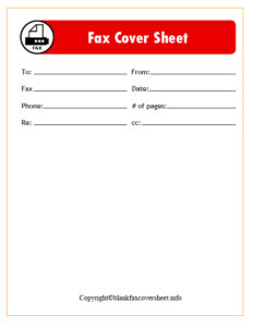 Generic Fax Cover Sheet free template