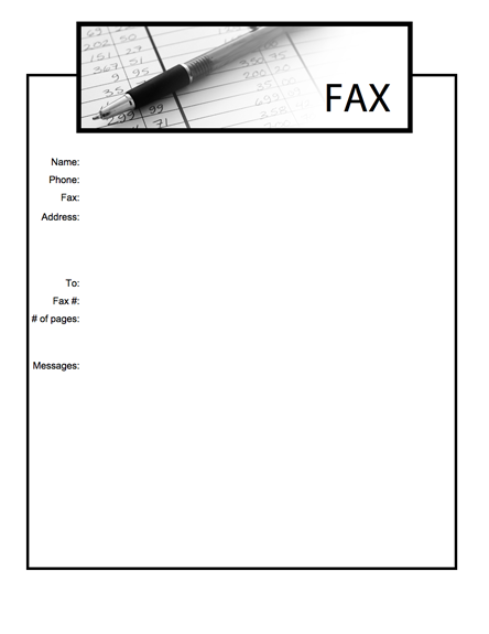 Printable Standard Fax Cover Sheet PDF