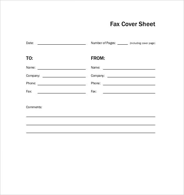Professional Fax Cover Sheet Template PDF