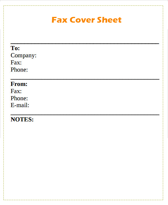 Standard Fax Cover Sheet download