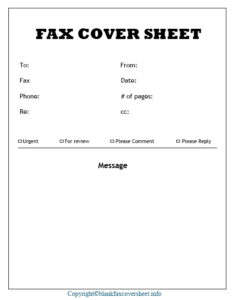 Business Fax Cover Sheet Free Printable
