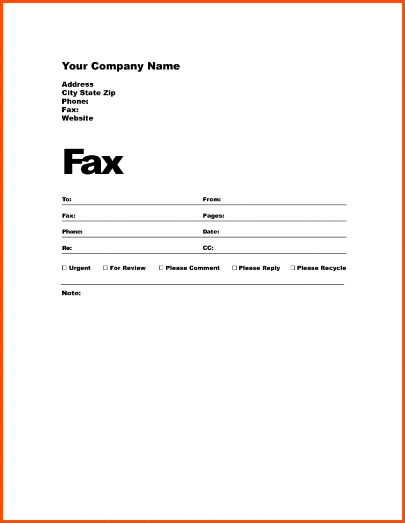 How to Fill Out a Fax Cover Sheet Template