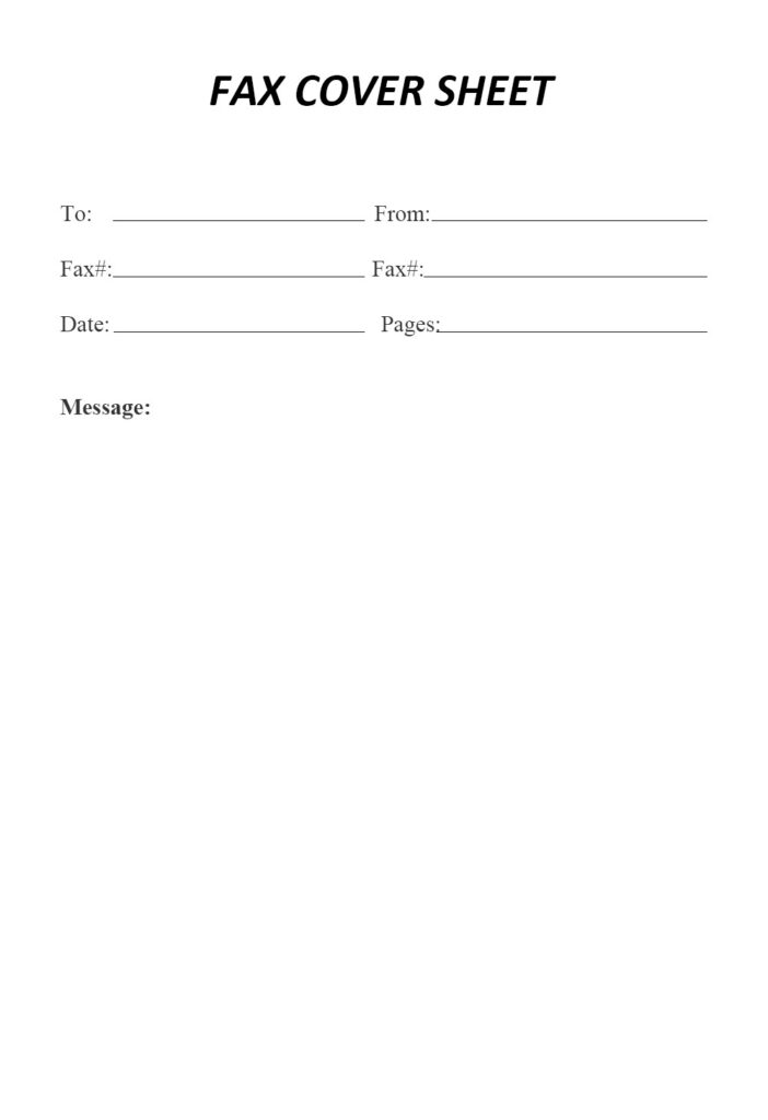 Attention Fax Cover Sheet Template