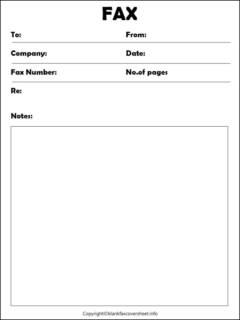 Government Fax Cover Letter