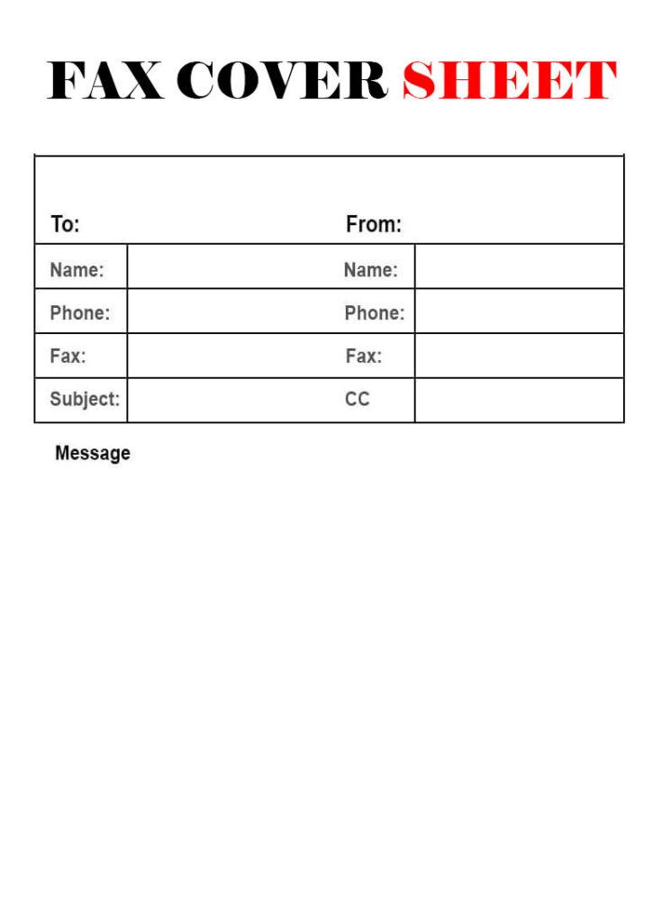 Sample Masshealth Fax Cover Sheet